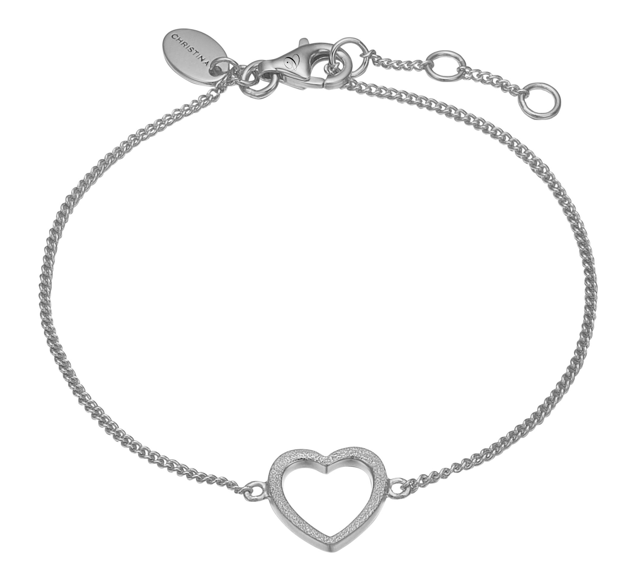 christina watches Christina sølv armlænke magic heart - 601-s17 fra brodersen + kobborg
