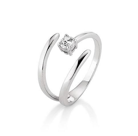 Image of   Kranz & Ziegler Rhodineret sølv ring - 6205162 Størrelse 54