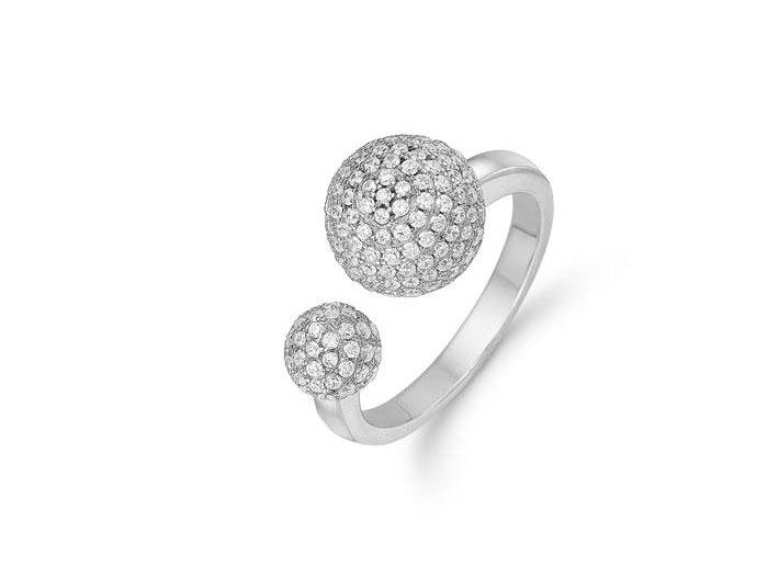 Image of   Kranz & Ziegler Rhodineret sølv ring - 6205819 Størrelse 56