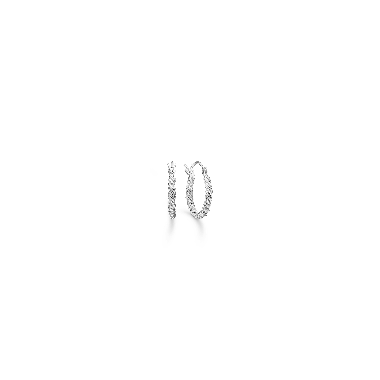 Mads z. sølv creol dobbelt snoet 15 mm - 8110014 fra mads ziegler fra brodersen + kobborg