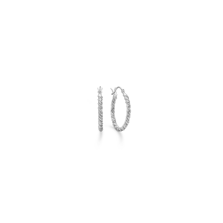 Mads z. sølv creol dobbelt snoet 20 mm - 8110015 fra mads ziegler fra brodersen + kobborg