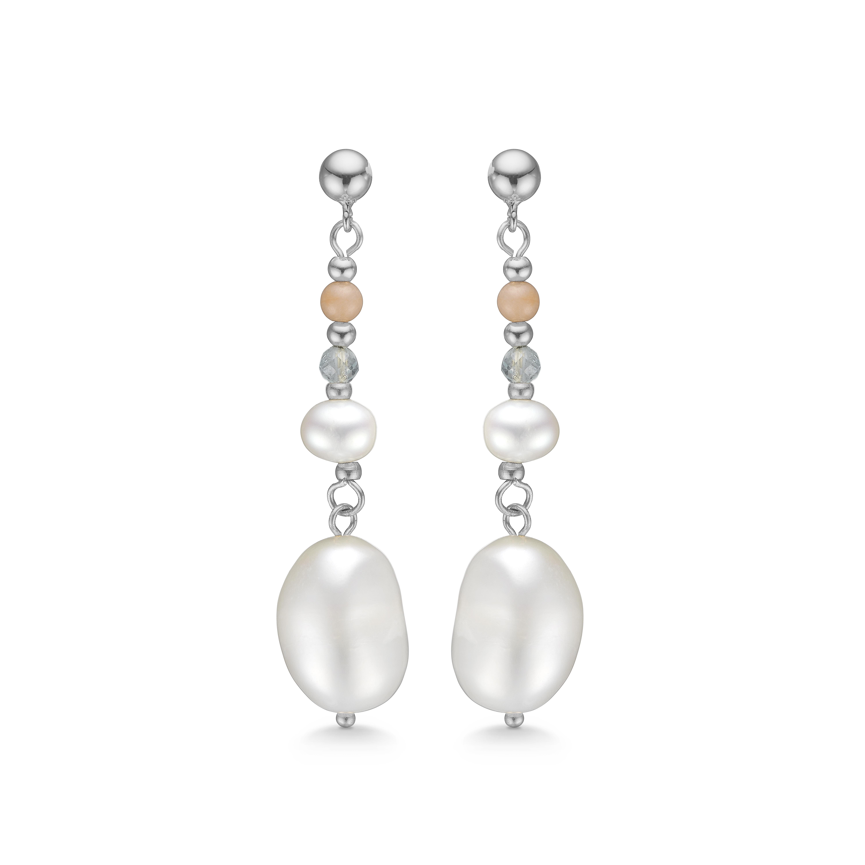 mads ziegler – Mads z pearl sølv ørehænger med perler - 8113232 fra brodersen + kobborg