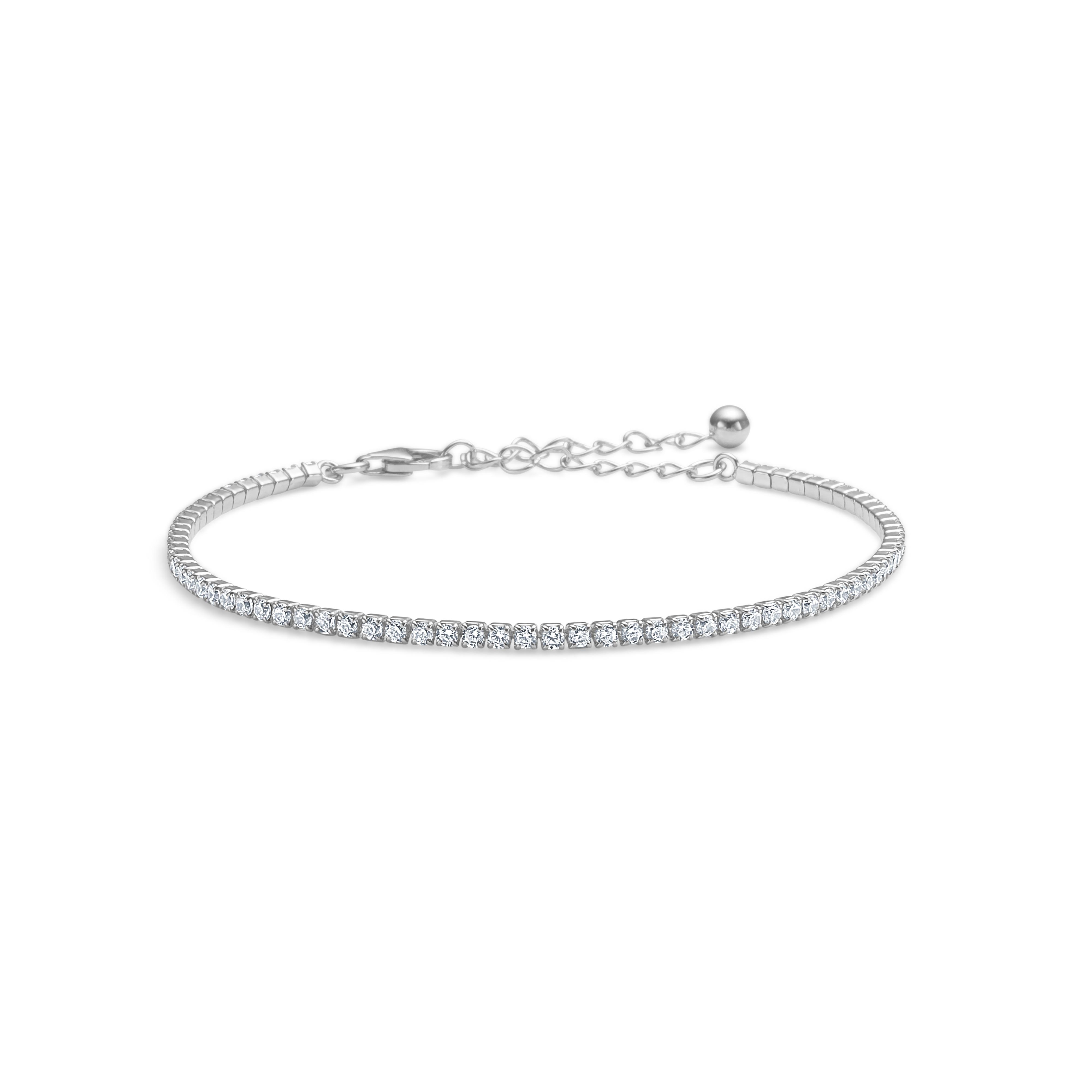 mads ziegler – Sølv tennisarmbånd precious peak small - 8157097 på brodersen + kobborg
