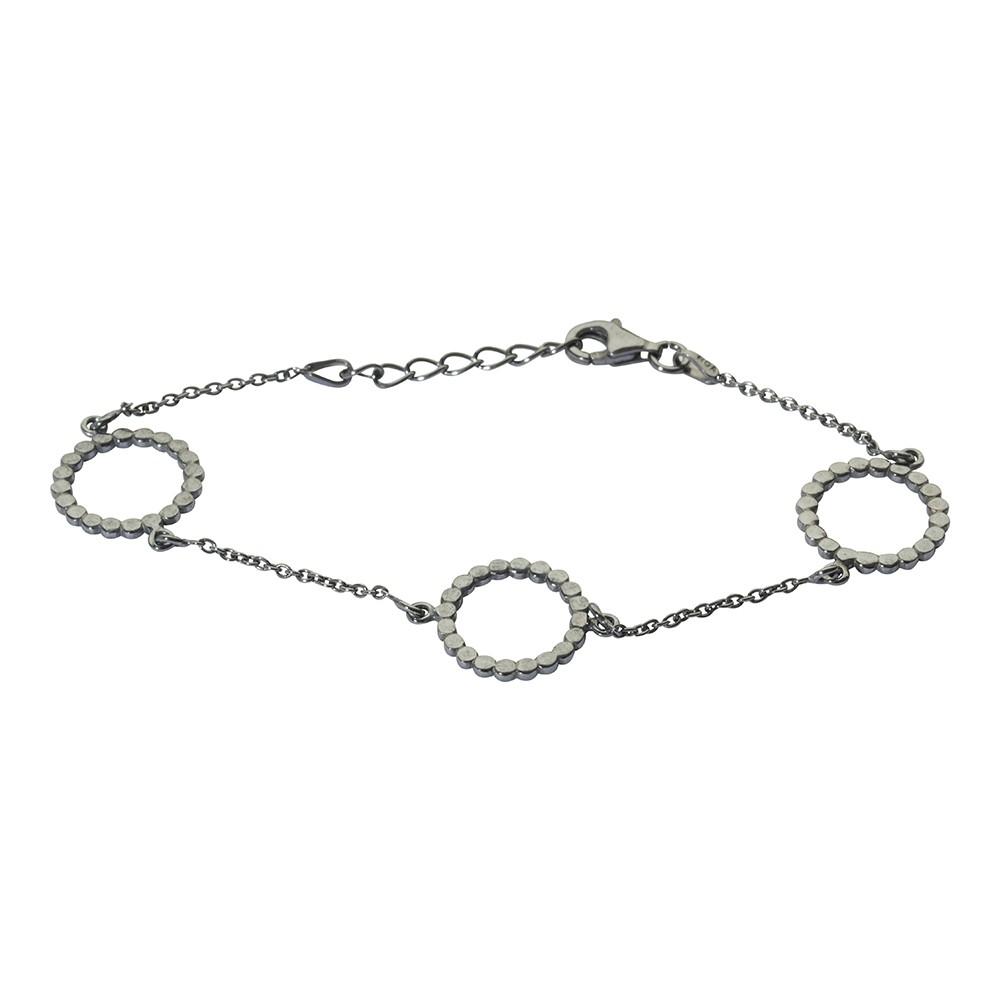 Billede af Oxideret sølv armbånd - 825 333