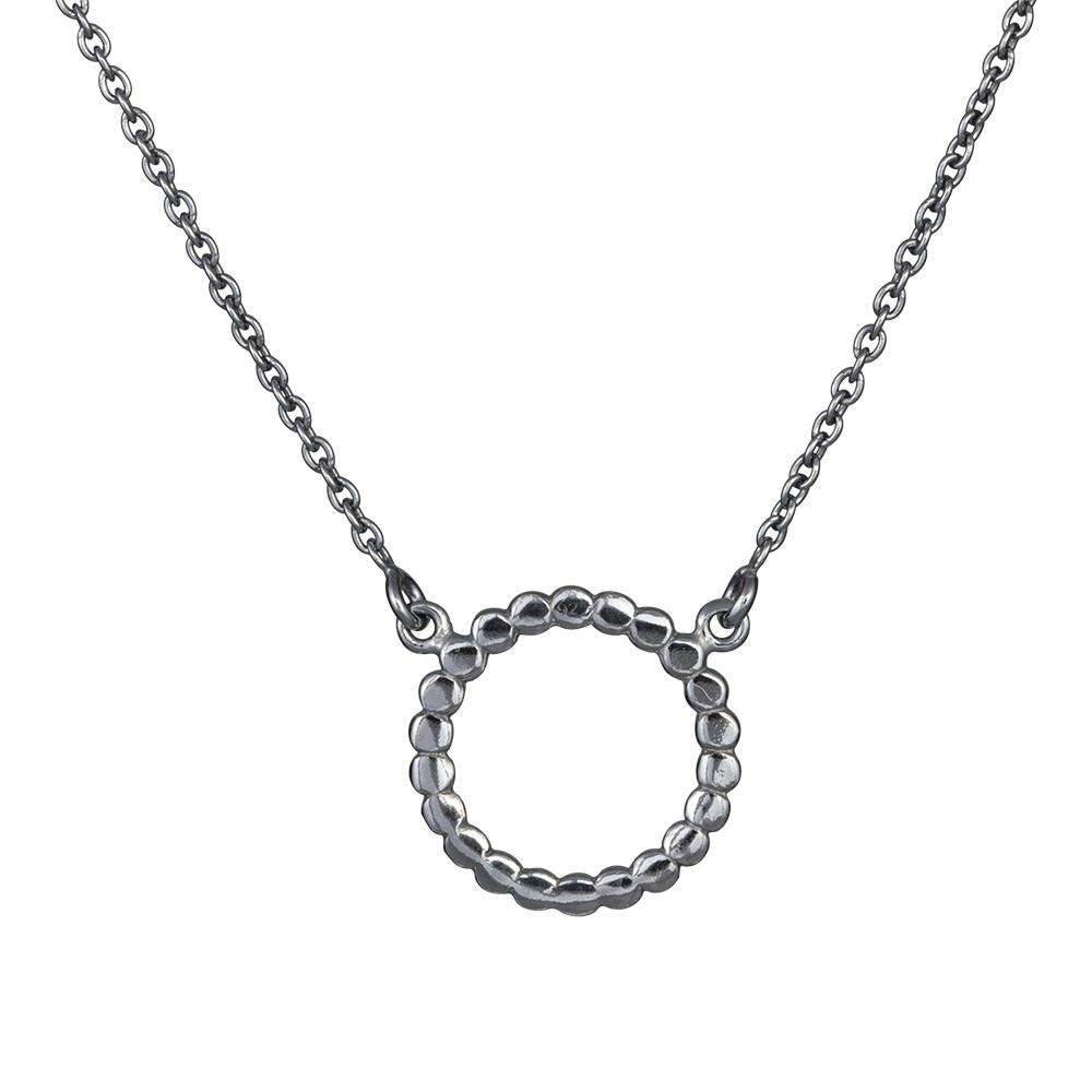 Billede af Oxideret sølv vedhæng med kæde - 825 585