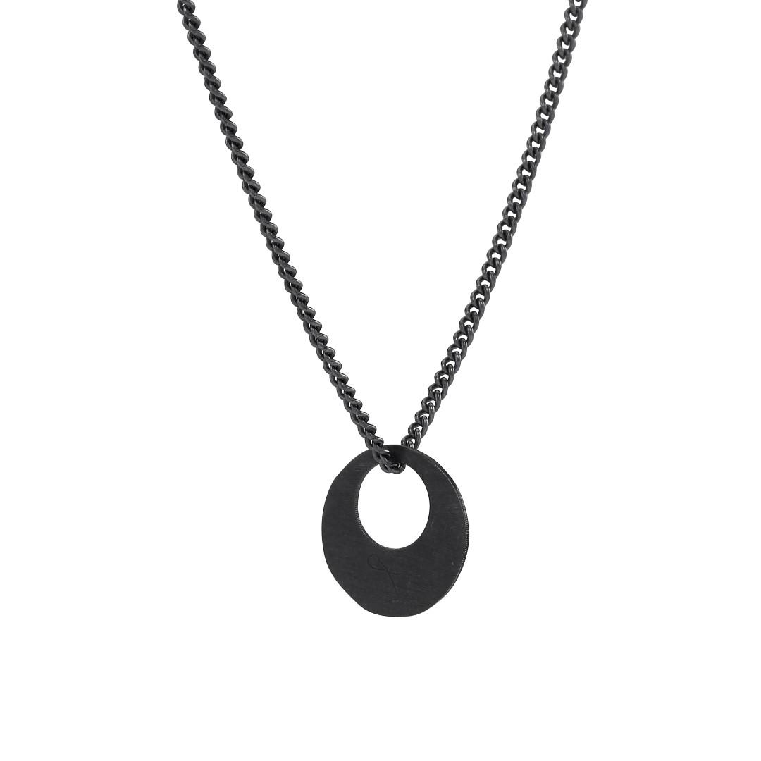 Image of Oxideret sølv vedhæng med kæde - 825715-2