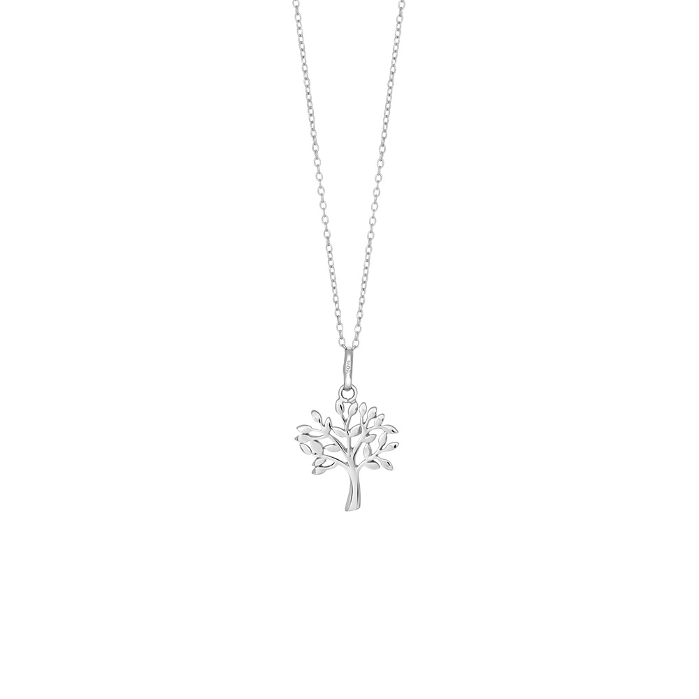 Image of   Sølv vedhæng m. kæde, Tree - 825 756