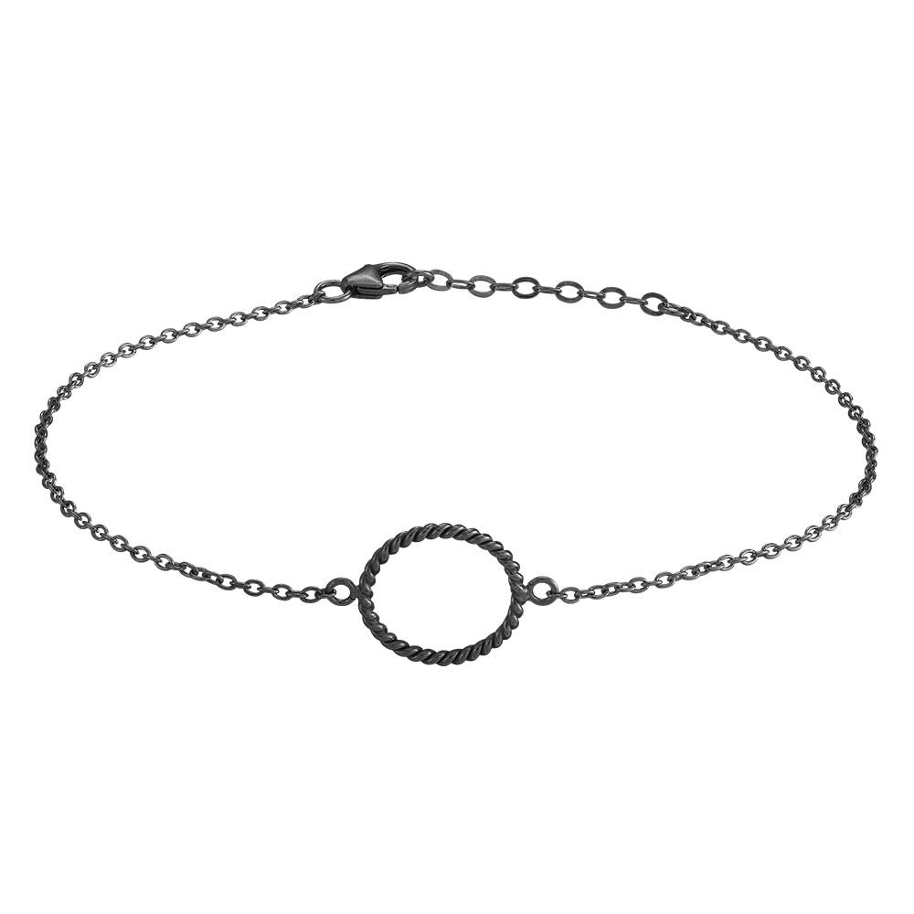 Billede af Oxideret sølv armbånd Petit 15 mm - 833 001-2