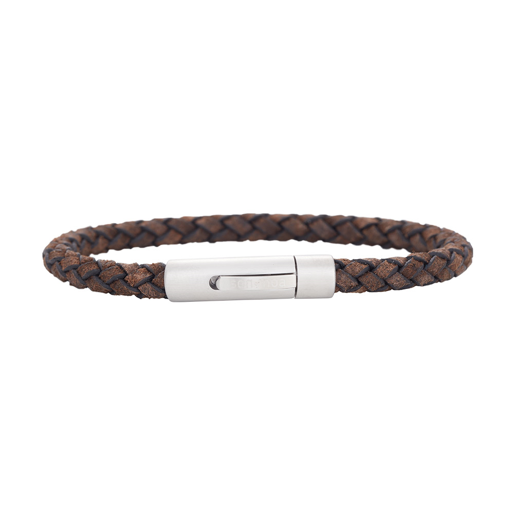 Image of SON Herre armbånd grey leather - 897-008-GREY-21