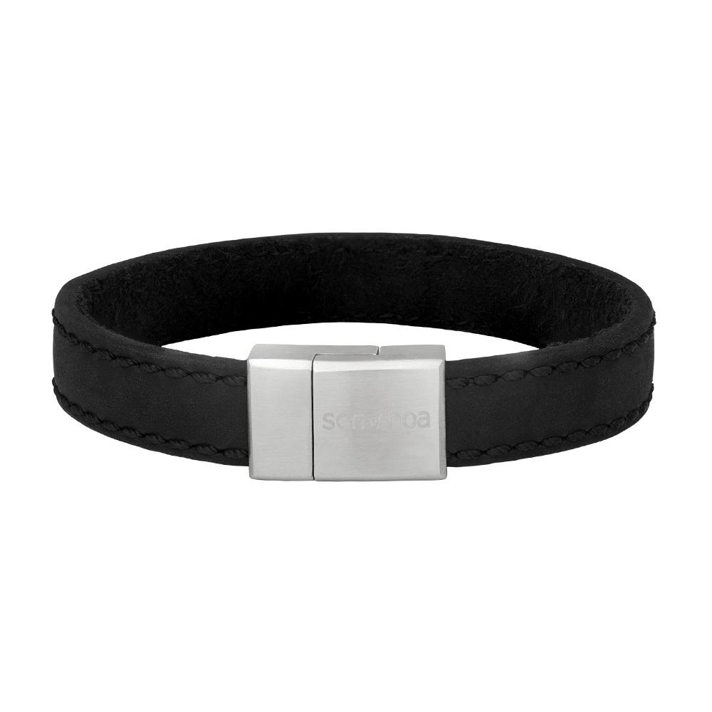 Image of SON armbånd sort kalvelæder 12 mm - 897-016-BLACK21