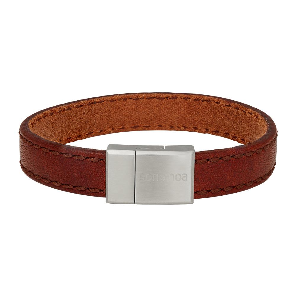 Image of SON armbånd brun kalvelæder 12 mm - 897-016-BROWN21