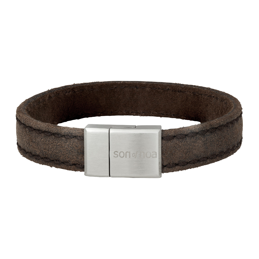 Image of SON armbånd grå kalvelæder 12 mm - 897-016-GREY21