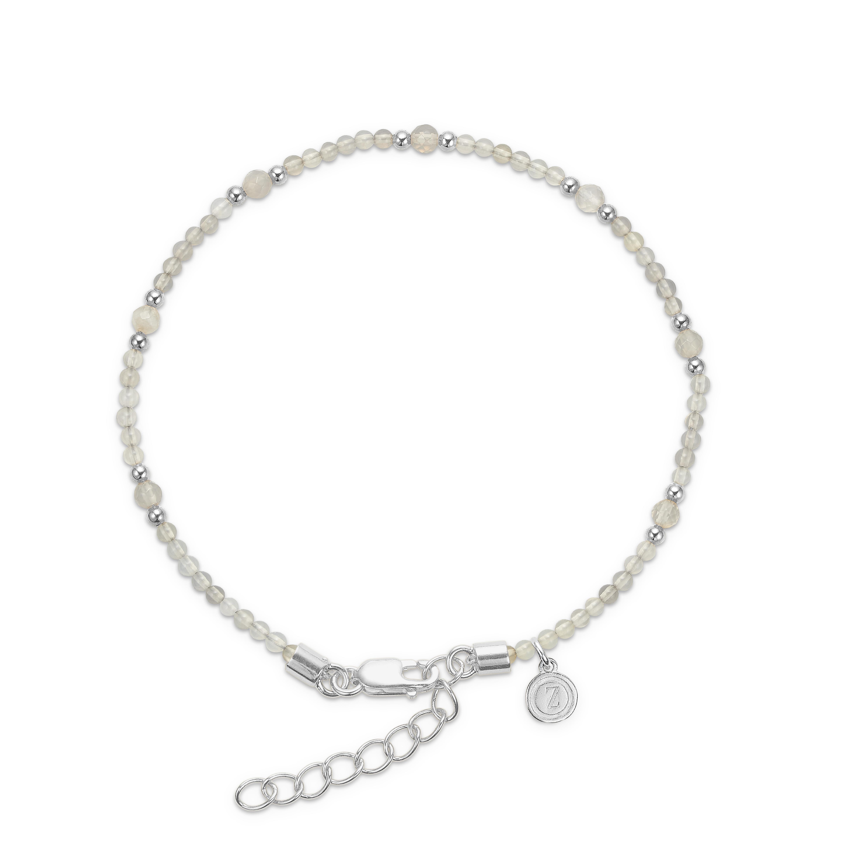 Image of Mads Ziegler sølvarmbånd med grå agat - 9156067