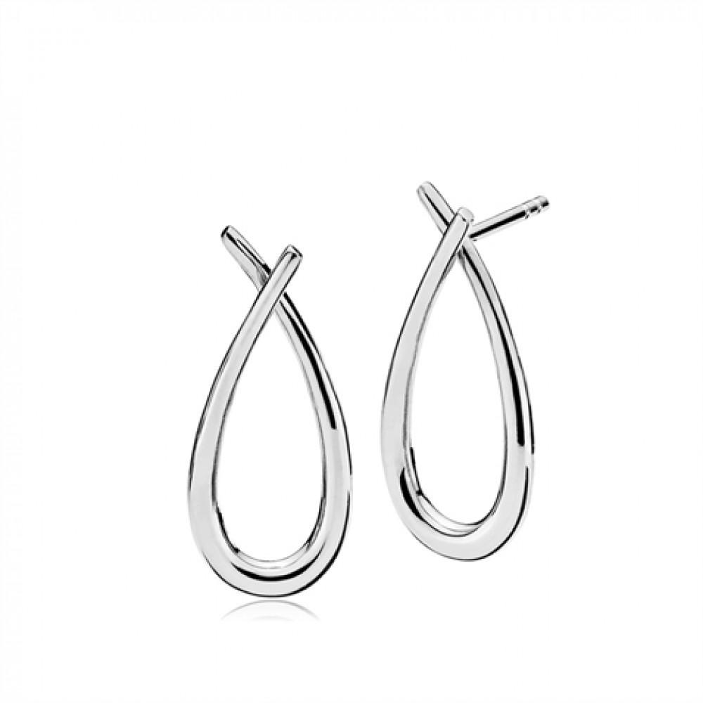 Izabel camille attitude medium sølv øreringe - a1454sws fra izabel camille fra brodersen + kobborg