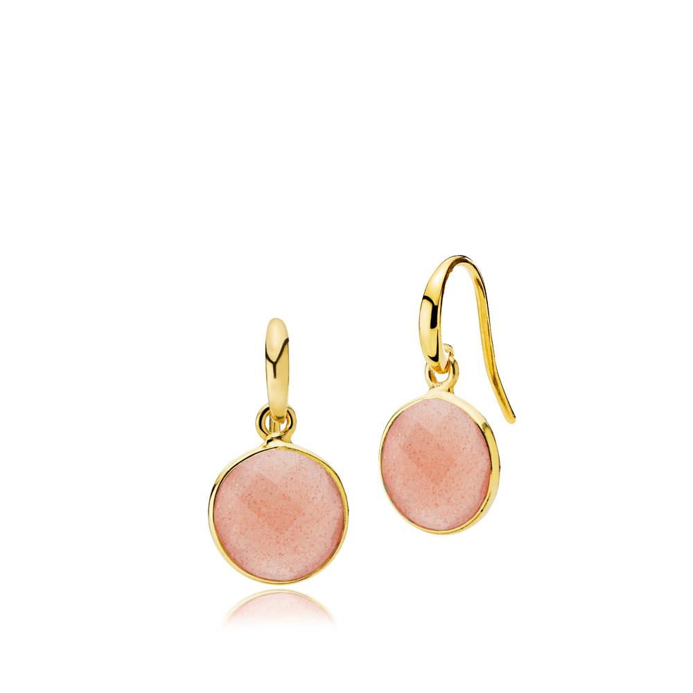 Izabel camille prima donna forg. øreringe peach - a1460gs-peachmoonstone fra izabel camille på brodersen + kobborg