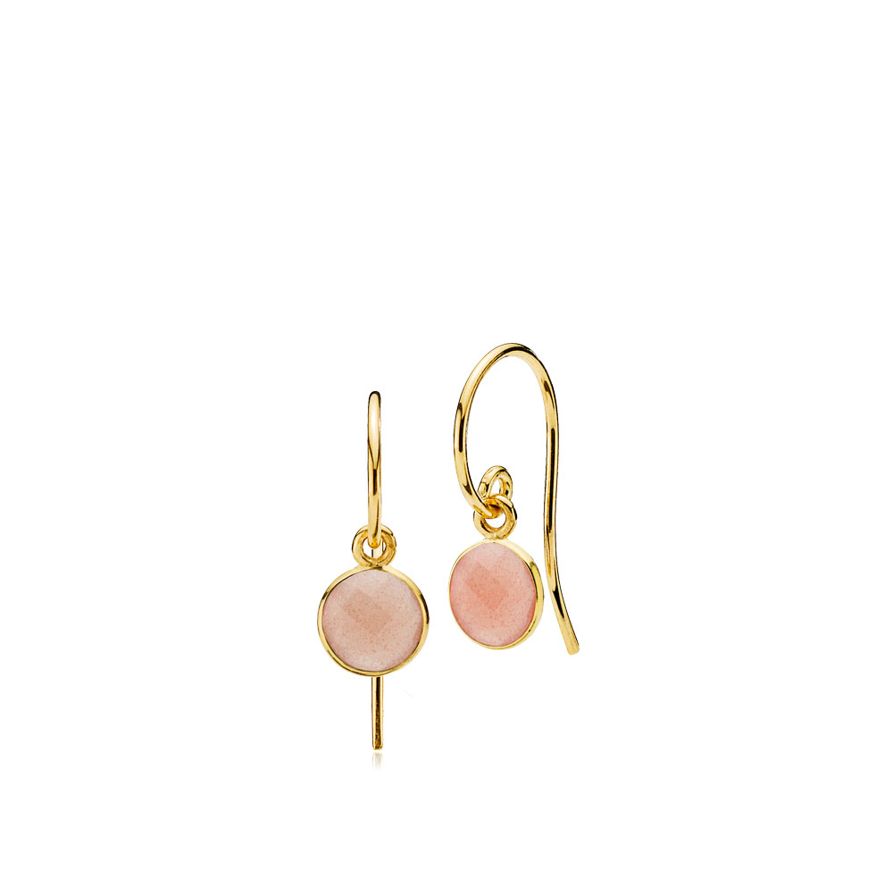 Izabel camille prima donna small øreringe peach - a1594gs-peachmoonstone fra izabel camille fra brodersen + kobborg