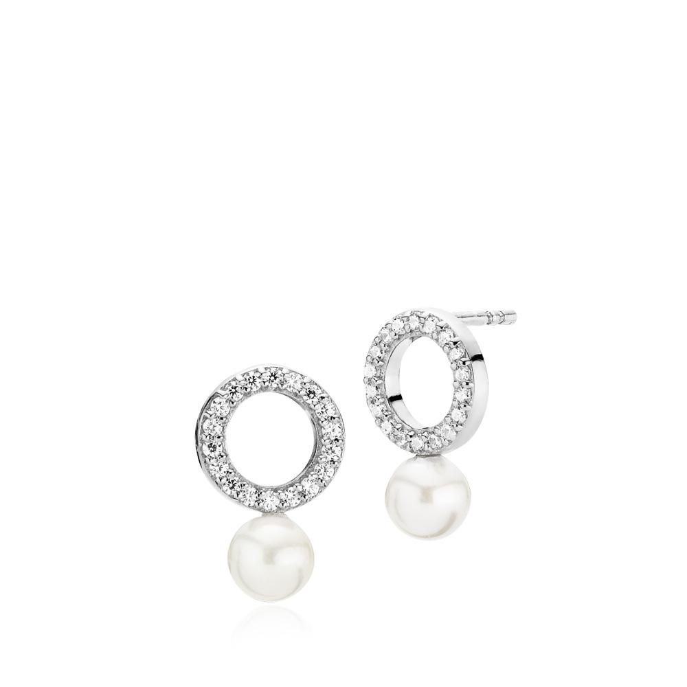 izabel camille Izabel camille shine sølv øreringe - a1606sws-white fra brodersen + kobborg