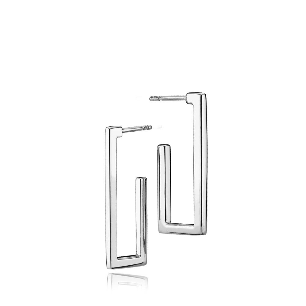 Izabel Camille Times Square sølv øreringe - A1615SWS