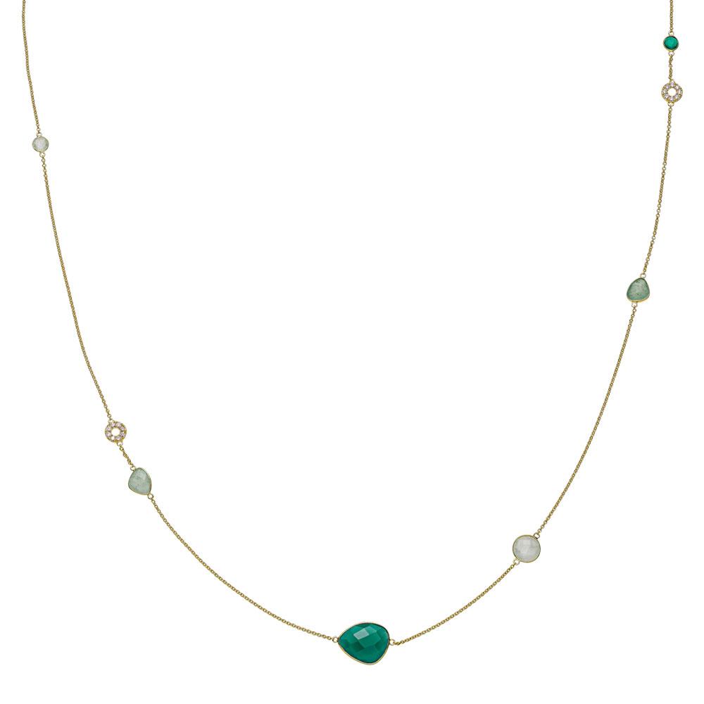 Izabel camille orient forg. halskæde 100 cm - a2016gs-green fra izabel camille fra brodersen + kobborg