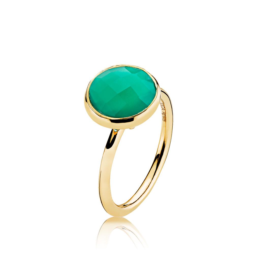 izabel camille – Izabel camille prima donna forg. ring - a4095gs-green-onyx størrelse 54 fra brodersen + kobborg
