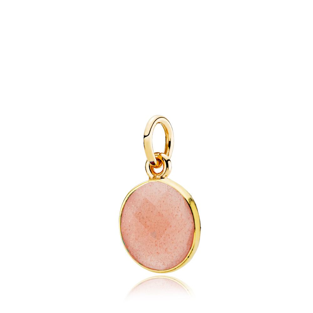 Izabel camille prima donna forg. vedhæng peach - a5249gs-peachmoonstone fra izabel camille på brodersen + kobborg