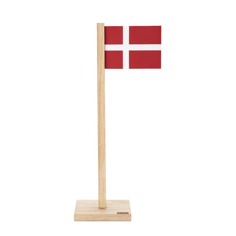Image of   Bordflag med magnet egetræ - læder 31 cm - BFD1