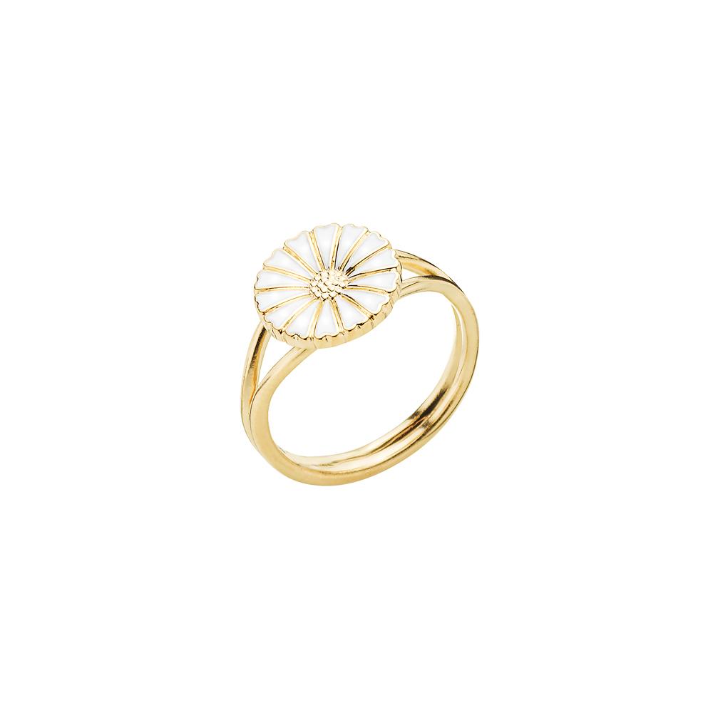 LUND Copenhagen marguerit ring m 1 blomst - 907011-M Forgyldt 58