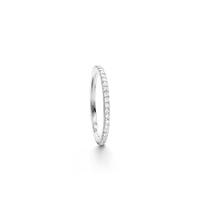 Image of Love Band ring lige 18 kt hvidguld - A2600-503 Størrelse 55