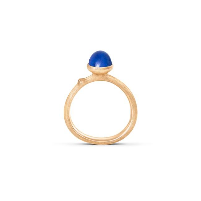 Image of Ole Lynggaard Lotus 0 ring rødguld med lapis - A2708-413 Størrelse 55