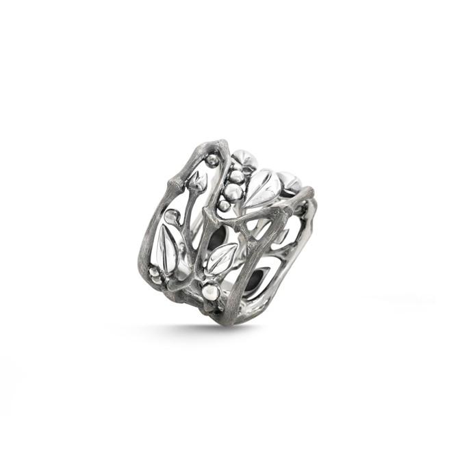 Image of   Ole Lynggaard Forest ring sølv - A3019-301 Størrelse 52