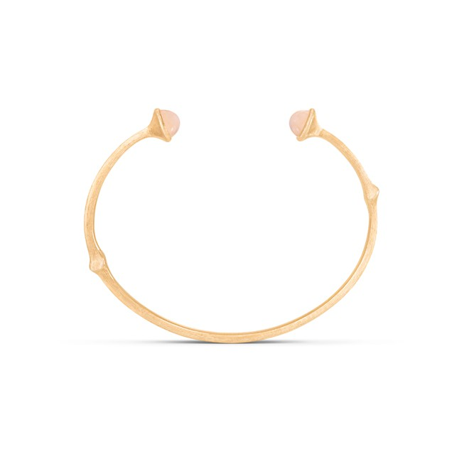 Image of   Ole Lynggaard Nature armring, blush månesten - A3029-406 17 centimeter