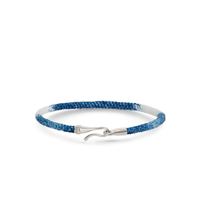 Image of   Ole Lynggaard Life armbånd blå sølv - A3040-301 16 centimeter