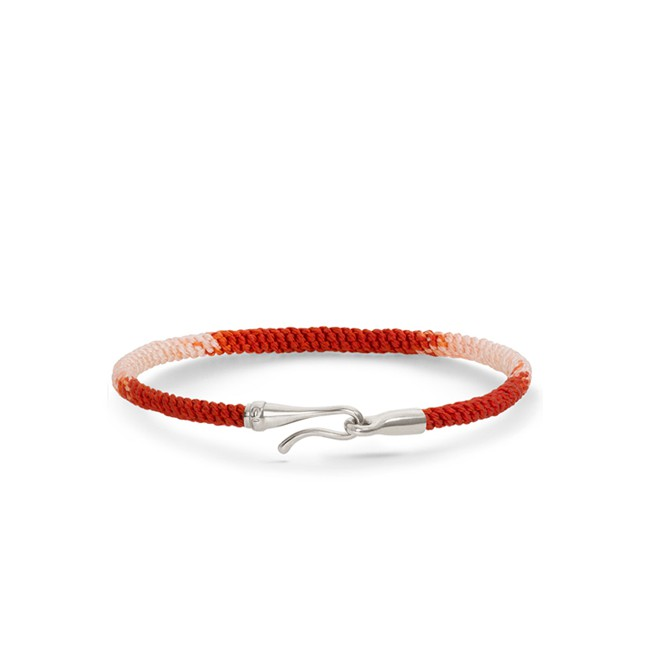 Image of   Ole Lynggaard Life armbånd rød sølv - A3040-302 17 centimeter