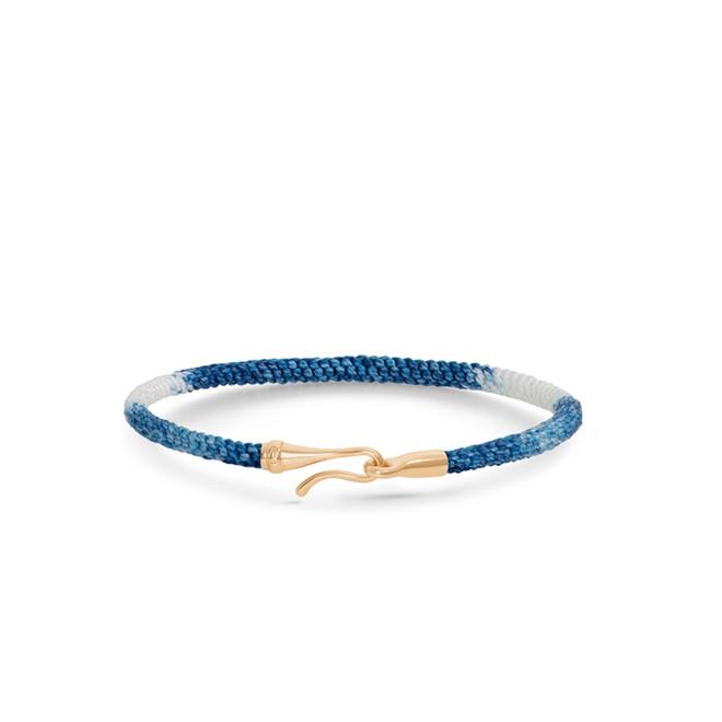 Image of   Ole Lynggaard Life armbånd - blå guld - A3040-401 16 centimeter