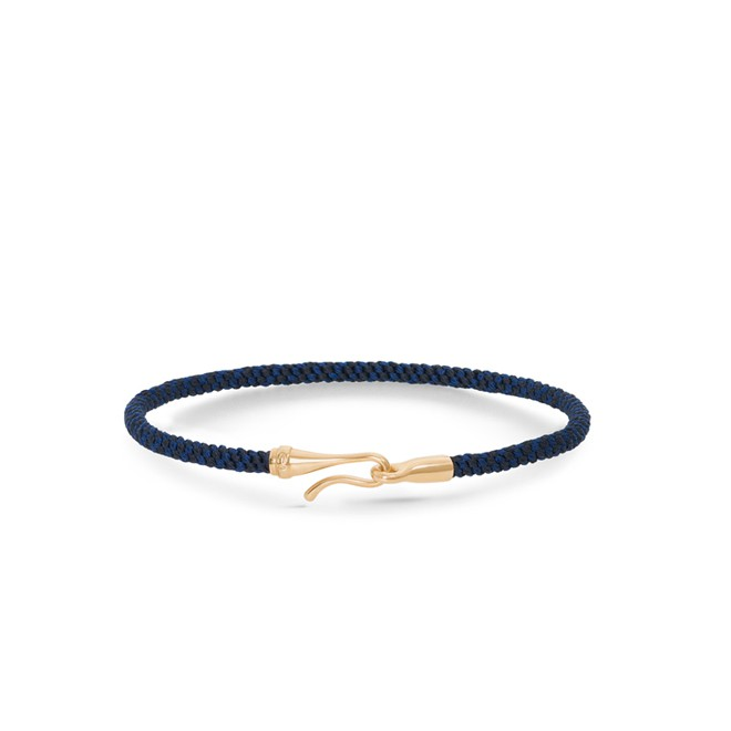 Image of   Ole Lynggaard Life armbånd - midnight guld - A3040-406 21 centimeter