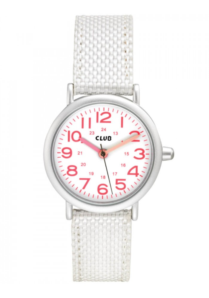 inex Club pige ur, hvid skive og lyserøde tal - a56536s0a på brodersen + kobborg