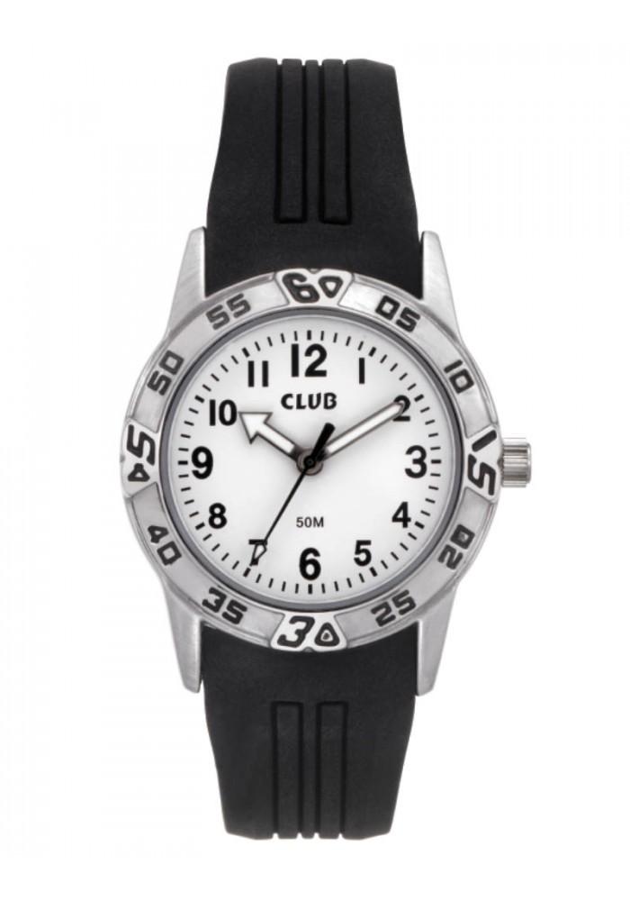 inex – Club sort drenge ur med silicone rem - a65182s0a fra brodersen + kobborg
