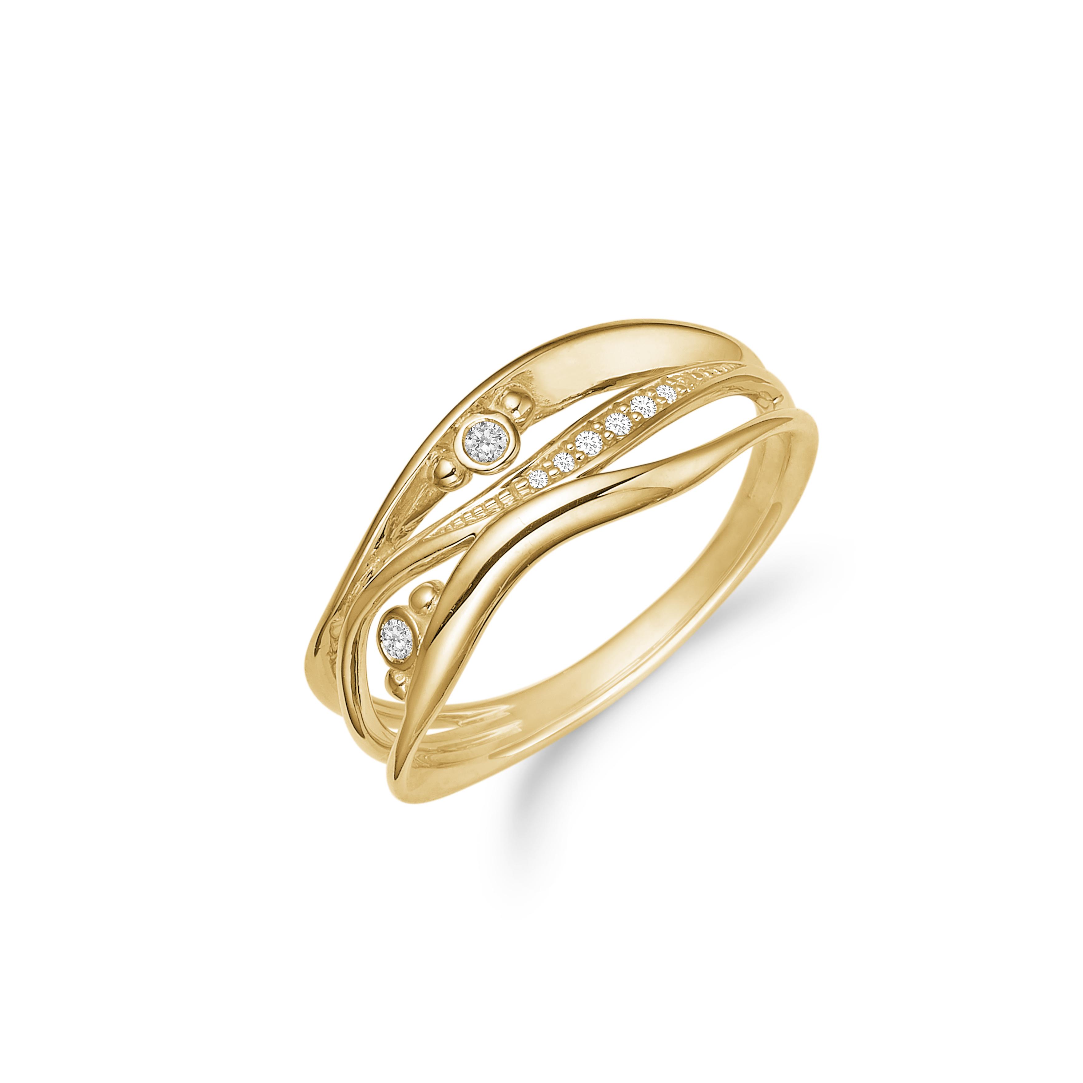 Image of   8 kt ring med zirkonia - 08622271-75 Størrelse 52