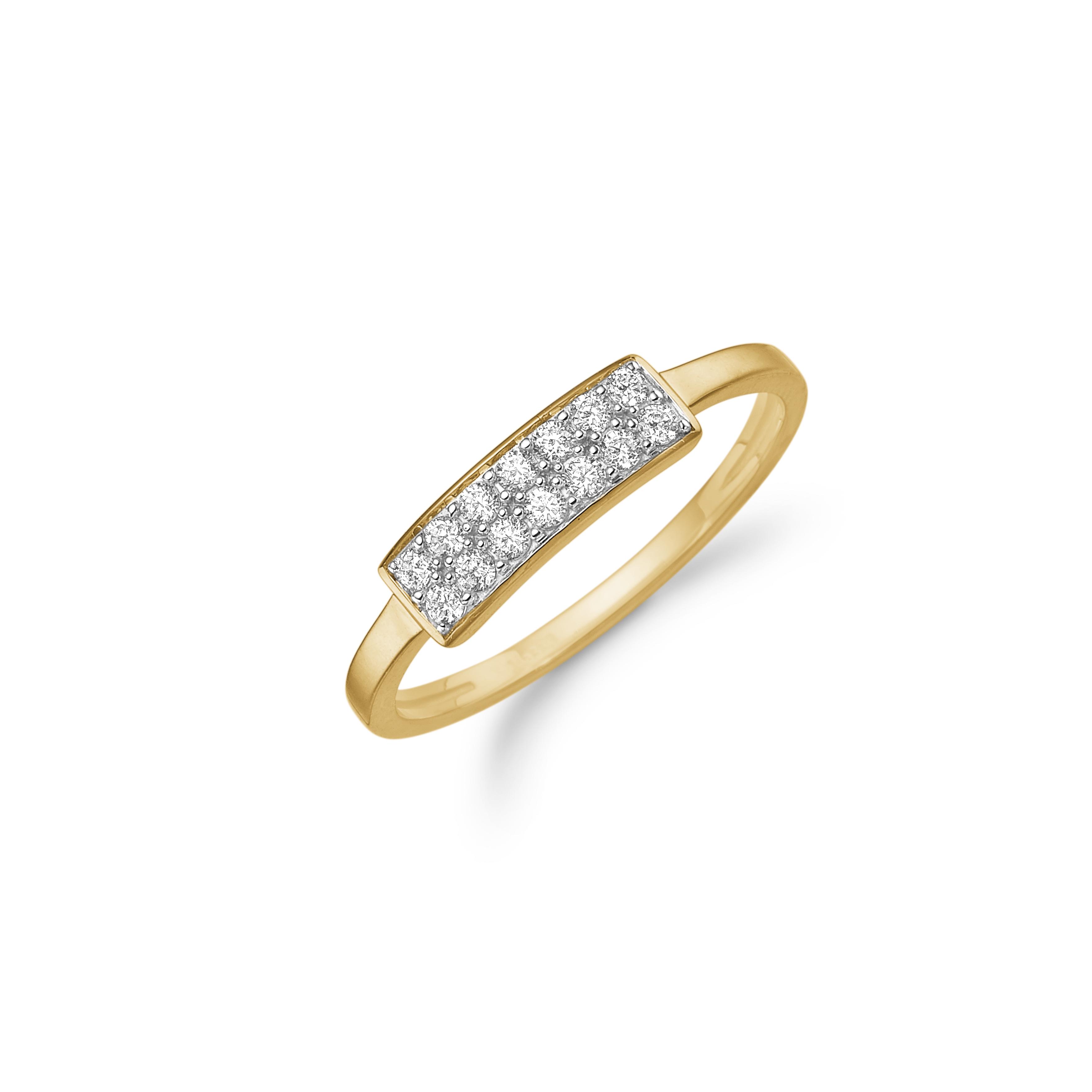 Image of   8 kt ring med zirkonia - 08622286-75 Størrelse 52