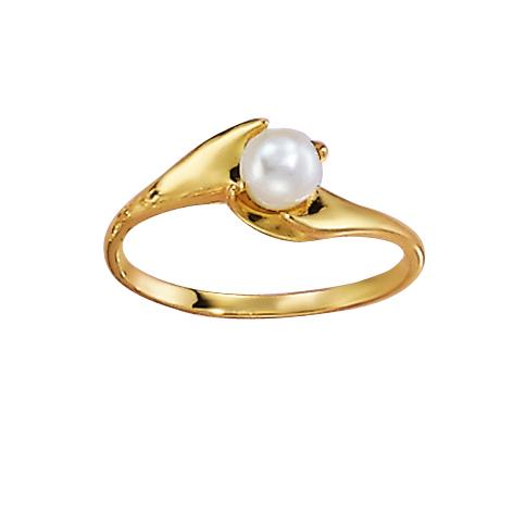 Image of   Aagaard 8 kt ring med kulturperle - 0865930-30R Størrelse 54