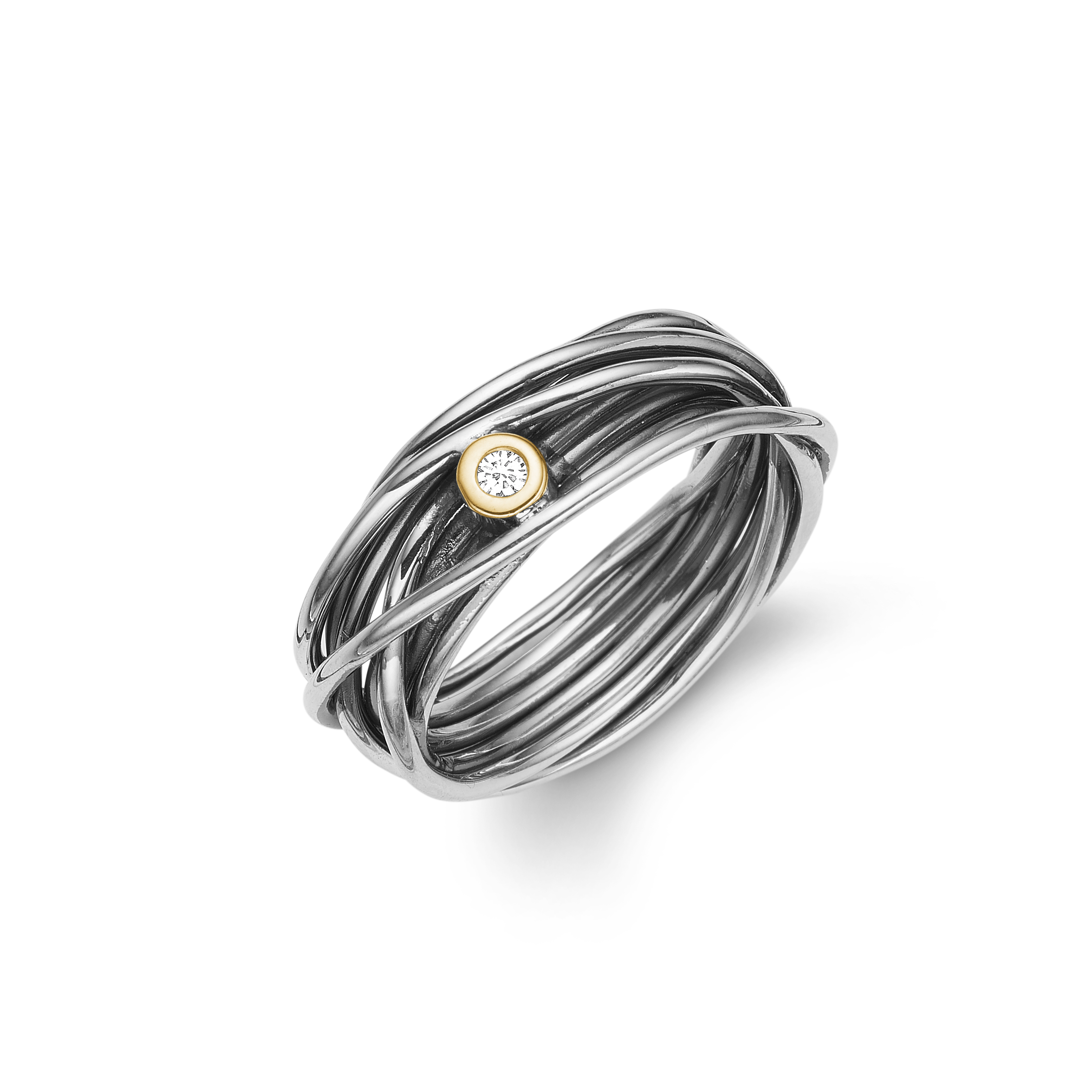 Image of   Aagaard Sølv ring - 11641528-34 Størrelse 52