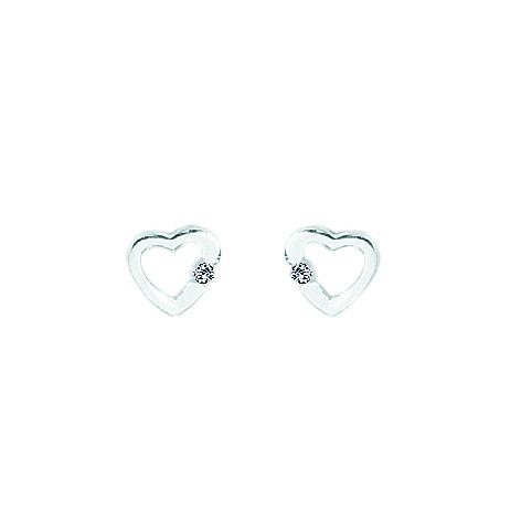 Billede af AAgaard sølv rhodineret ørestikker med zirconia - 1192211-75ø