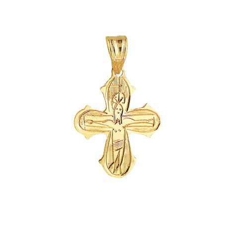 14 kt rødguld kors - håndgraveret - 1488010 fra aagaard på brodersen + kobborg
