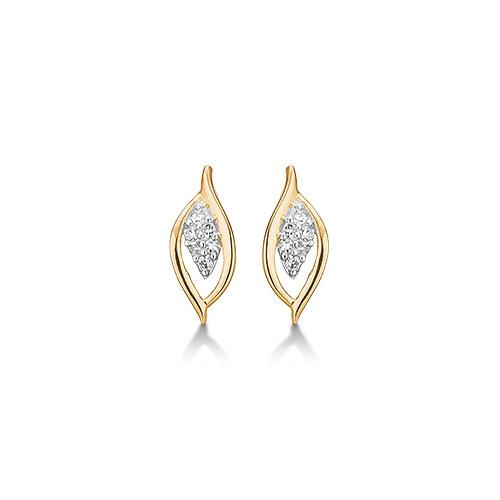 Aagaard 14 kt ørestikker med diamant - 14943176-34 fra aagaard på brodersen + kobborg