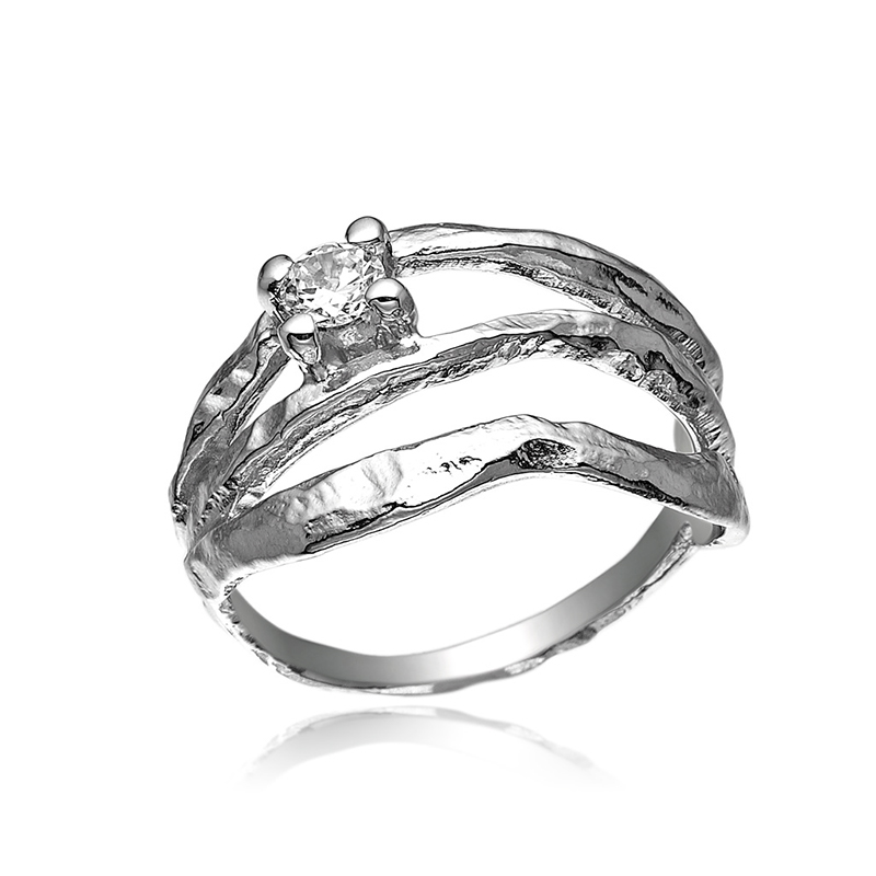 blicher fuglsang Blicher fuglsang sølv ring med zirkonia - 1242-39r størrelse 59 fra brodersen + kobborg