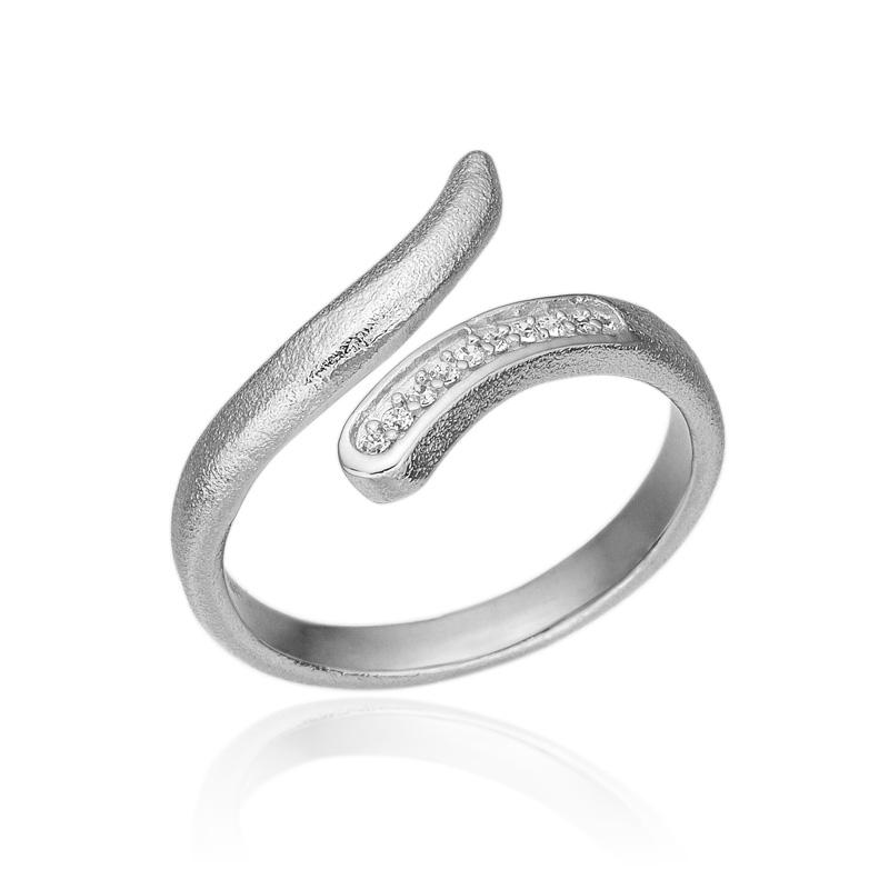 Blicher Fuglsang Sølv ring med zirkonia - 1278-39R Størrelse 64