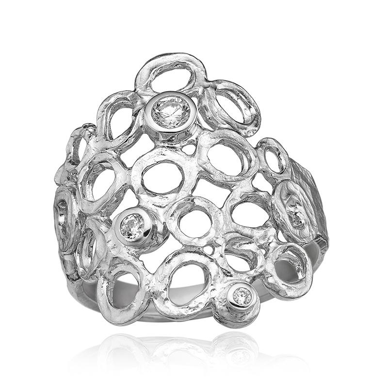 blicher fuglsang Blicher fuglsang sølv ring med zirkonia - 1280-39r størrelse 62 fra brodersen + kobborg