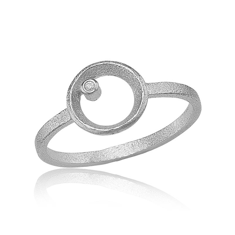 blicher fuglsang – Blicher fuglsang sølv ring - 1301-39r størrelse 55 på brodersen + kobborg