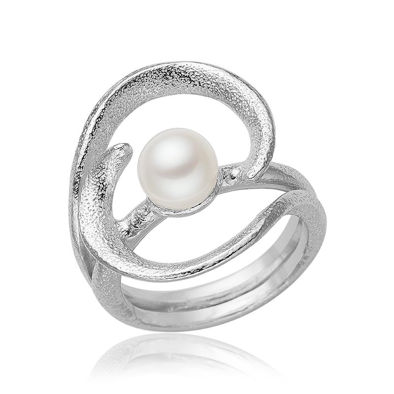 blicher fuglsang – Blicher fuglsang sølv ring med perle - 1302-40r størrelse 59 på brodersen + kobborg