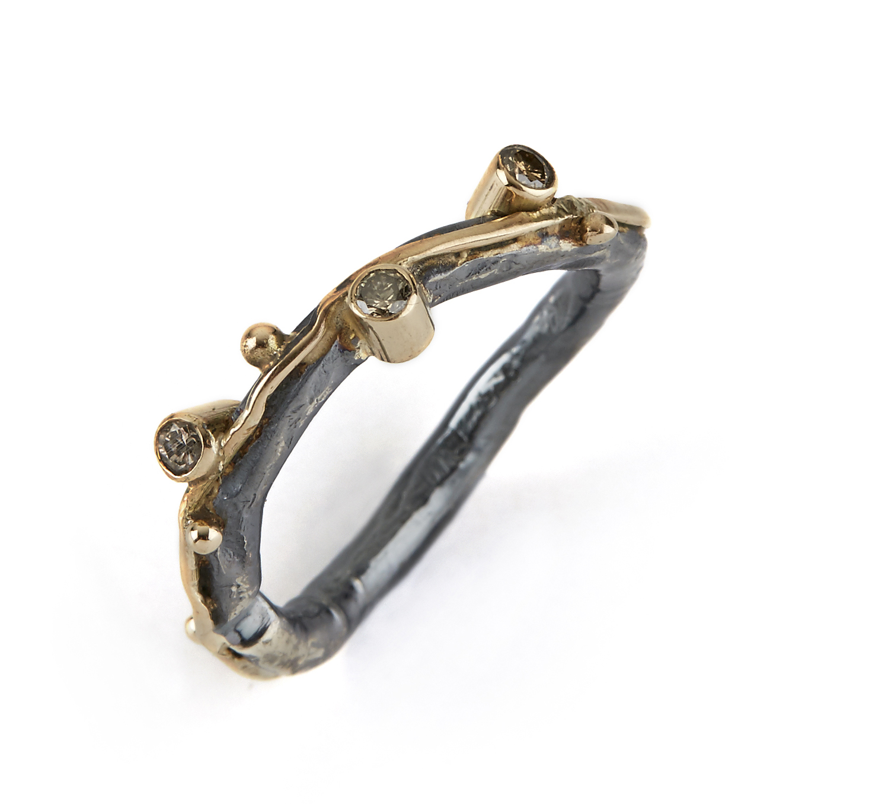 Image of   By Birdie Ring Zeus Triple Brill - 50110112 Størrelse 57